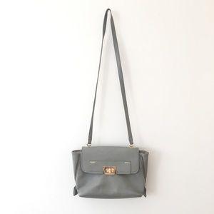Danielle Nicole Shoulder Bag Grey Blue Sea  Gold